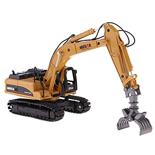B Blesiya 1/50 Scale Bagger Baufahrzeuge Baustellenfahrzeuge Fahrzeug Modell Spielzeug