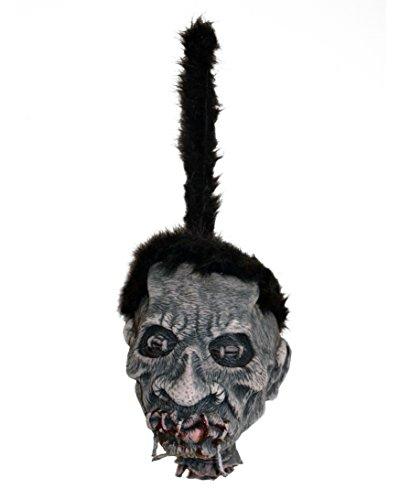 Zagone Studios Large Shrunken Voodo Head Witch Doctor Hanging Halloween Prop 10'