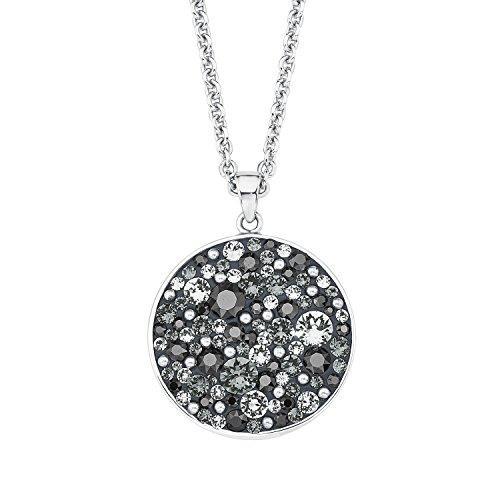 Noelani Damen-Kette mit Anhänger rhodiniert veredelt mit Swarovski Kristallen 80 cm