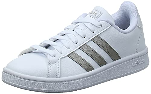 adidas Grand Court, Sneaker Mujer, Footwear White/Platin Metallic/Footwear White, 40 EU