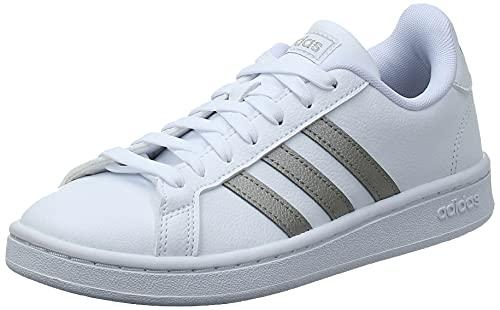 adidas Grand Court, Scarpe da Tennis Donna, Ftwr White/Platinum Met./Ftwr White, 37 1/3 EU