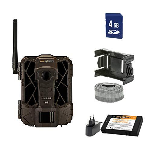 SpyPoint Wild-/Überwachungskamera LINK-EVO-EU inklusive Lithium-Akku und SD-Karte Outdoor, Tarnbraun