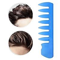カラフルな男性の歯の櫛のもつれを解く櫛の後ろの頭のスタイリングの櫛は、男性の家庭用の化粧のために毎日使用します(blue)