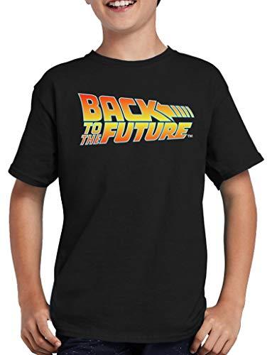 Zurück in die Zukunft Logo T-Shirt Kinder 152/164 Schwarz