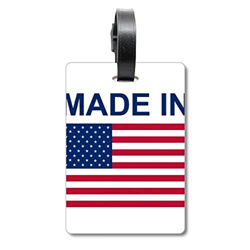 Etiqueta de identificación para Maleta con Texto en inglés «Made in United States Country Love Cruise»
