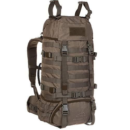 Wisport taktischer Militär Rucksack Damen Herren + inkl. E-Book | Tactical Backpack Molle | Military Pack für Frauen Männer | Armeerucksack Tarnung | Assault | Raccoon 45 Liter, RAL-7013