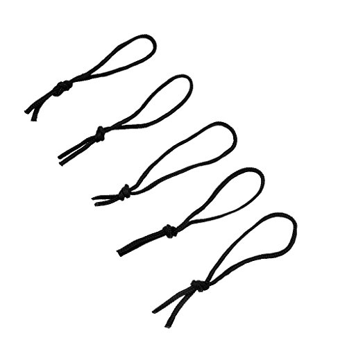 perfeclan Juego de 5 Cuerdas de Poliéster para Tabla de - Negro