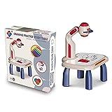 Proyector de rastreo y dibujo de juguete   Proyector de arte, mesa de dibujo de pintura, proyector LED, juguete para niños pequeños, juego de dibujo educativo para niños, niñas, a partir de 3 años