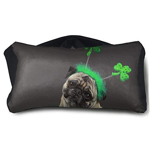 Wartleves Cojín portátil para ojos con diseño de perro carlino y perro de San Patricio, muy suave y lujoso