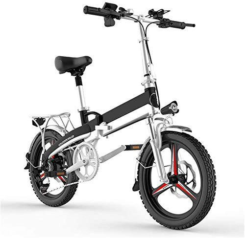 RDJM Ebikes, E-Bike Folding Electric Mountain Bike, Lightweight Aluminum Alloy Frame Electric Bicycle, 400W Motor 7 Speed Derailleur 3 Mode LCD Display 20' Wheels, for City Commuting Outdoor Cycling