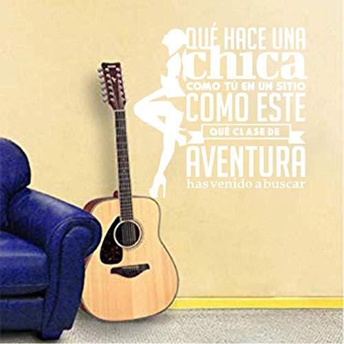 Vinyl Sticker muurschildering met enkele van de beroemdste Spaanse pop Rock Posters muur Stickers Home Decor Woonkamer 55x55cm