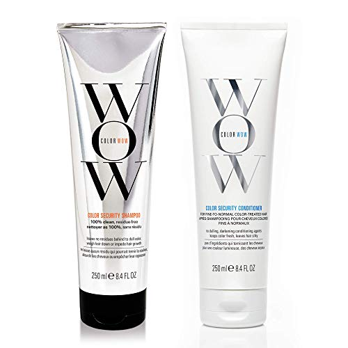COLOR WOW Color Security Shampoo and Conditioner, Fine to Normal Hair, Duo Set, Sulfate Free, Color Safe, 8.4 Fl Oz