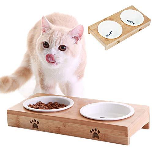 【 食べやすい 】iikuru 猫 食器 可愛い 猫用 餌入れ 水飲み 水入れ 皿 セラミック ねこ 水 えさ 入れ ボウル スタンド 子猫 食器台 セット y282