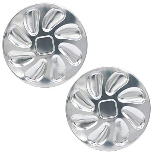 2 Pack Stainless Steel Oyster Plate for Oysters, Oyster Shell Shaped