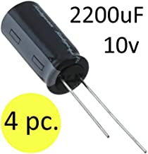 2200uF 10V Radial Lead Aluminum Electrolytic Capacitor - 4 pc.
