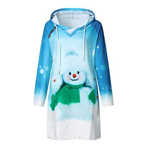Aploa - Sudadera con capucha para mujer (manga larga, con bolsillos) azul B L