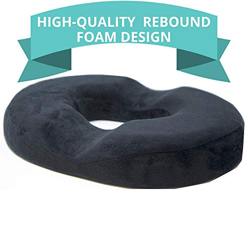 [New Design] Donut Cushion for Tailbone Pain, High-Quality Rebound Foam, Ultra Premium Quality Pain...