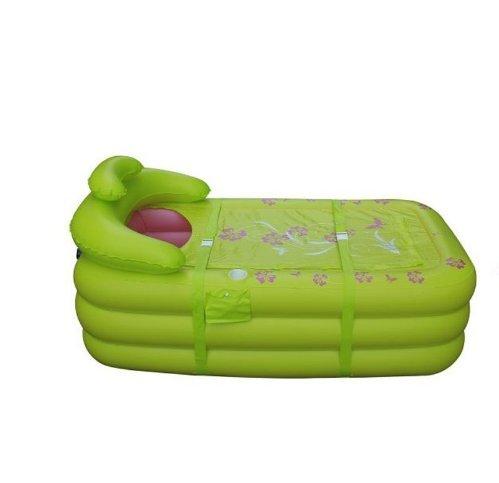 gonflable Baignoire Grande gonflable Baignoire Adulte pour enfant Baignoire – épaississant pliante baignoires Plastique Baignoire Pliante Baignoire, DE BAIN Corps (Vert)