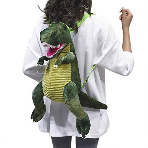 Mini-Sac Rucksack für die Schule, Kindergarten, aus Oxford, mit Sicherheitsgurt, für Kinder, Lunchtasche, Dinosaurier-Motiv, Tasche für Babys, grün, M,
