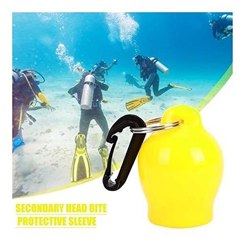 Profesión Del buceo con escafandra de accesorios de snorkel Boquilla Cubierta de polvo de retención Regulador práctica con gancho necesarios Gadgets de buceo al aire libre Sencillo ( Color : Yellow )