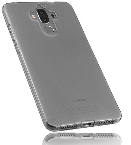 mumbi Hülle kompatibel mit Huawei Mate 9 Handy Case Handyhülle, transparent schwarz