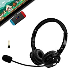 Wireless Gaming Headset for Nintendo Switch, Friencity Bluetooth Headphones w/USB C Audio Dongle Transmitter for PS4 PC, Noise Cancelling Chat Mic & Music, Plug n Play, No Audio Delay, Mute Fuction