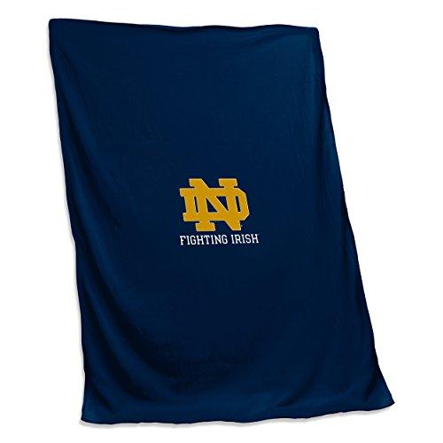 Logo Brands NCAA Notre Dame Fighting Irish Unisex Adult Sweatshirt Blanket, One Size, Multicolor