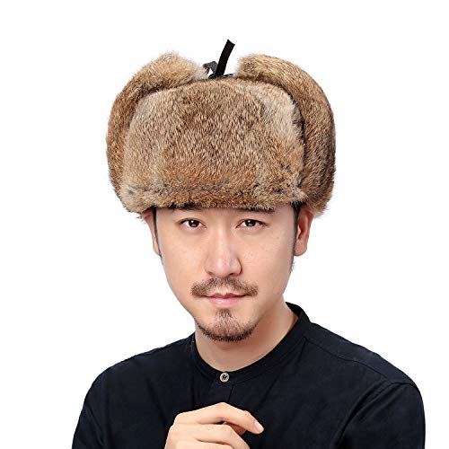 Valpeak Fur Hat Men Real Rabbit Fur…