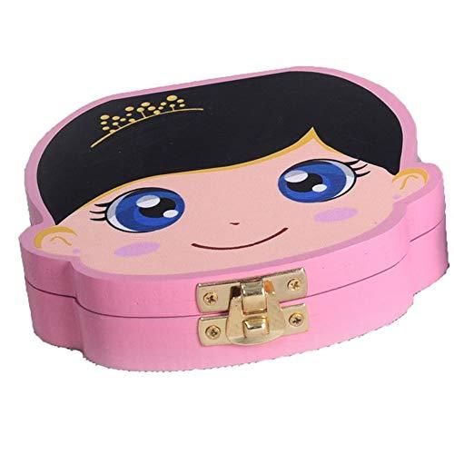 Asudaro Caja de dientes de leche Caja de recogida de dientes de madera Caja de dientes de madera Caja de Dientes de Dientes de Leche Colorido Caja de Dientes de Madera de