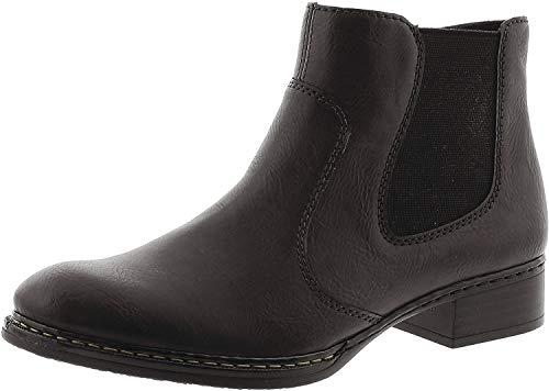 Rieker Damen 73481 Chelsea Boots, Schwarz (Schwarz), 42 EU