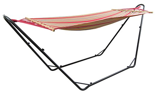 Woodside Hammock Steel Frame - Premium Standing Swinging Hammock Garden, Patio Outdoor