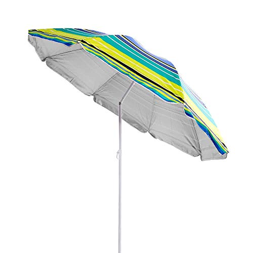 Sombrilla Parasol de Playa Amarilla Garden de Nylon para Camping de 180 cm - LOLAhome