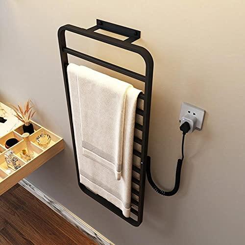 Accesorios de baño Toallero eléctrico calentado, secador de toallas, toallero de acero...