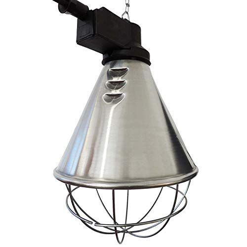 Koll Living Infrarot-Wärmestrahlgerät 150W mit/ohne Leuchtmittel, Kückenlampe, Schweinelampe (2,5 m Kabel - kein Sparschalter)