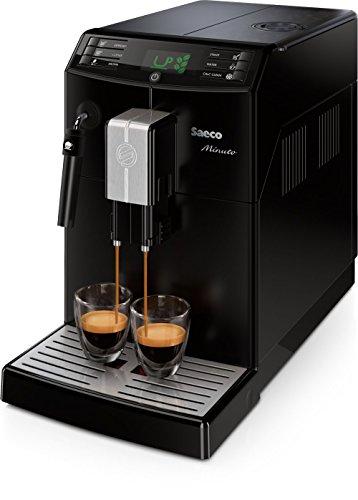 Saeco Minuto - Cafetera espresso super automática, con espumador de...