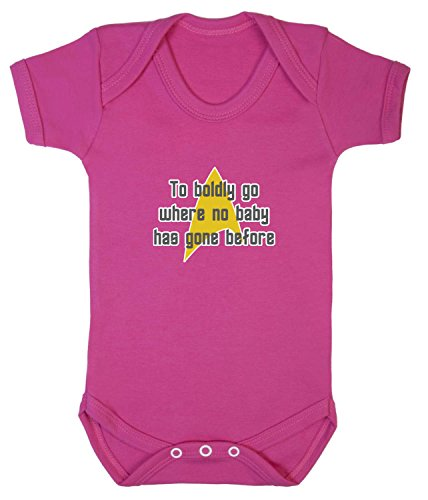 to Boldly Go Babygrow. 3-6 Monate. Berry