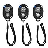 Cellphone Remote Shutter for Smartphones and Tablets (3 Pack), AOQIYUE Wireless Camera Remote Control Compatible with iPhone/Android Cellphone Wrist Strap Included -Create Amazing Photos and Videos