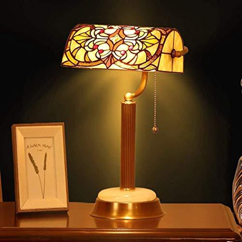 Tiffany Style Lámpara De Mesa Banquero De 16'Altas Lámparas De Escritorio De Vidrieras De Altura Dormitorio De La Sala De Estar De La Noche De La Noche