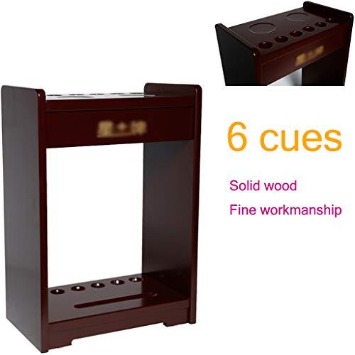 Great Features Of ADKINC Floor Cue Storage Rack, Billiard Cue Rack - Holds 6 Cues, Made of Whole Woo...