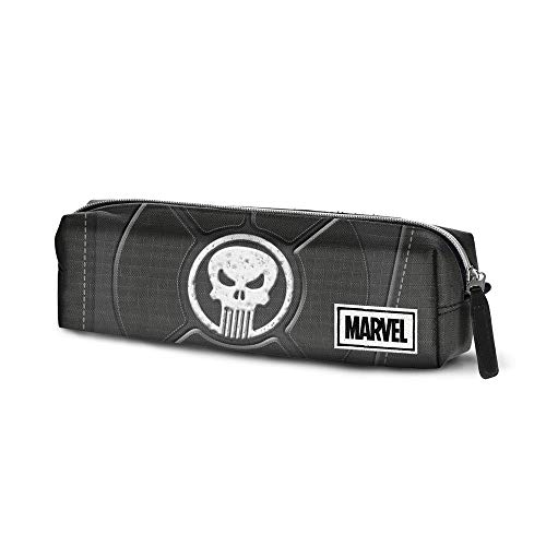 Karactermania Punisher Punisher-astuccio Portatutto Quadrato HS Estuches 22 Centimeters Negro (Black)