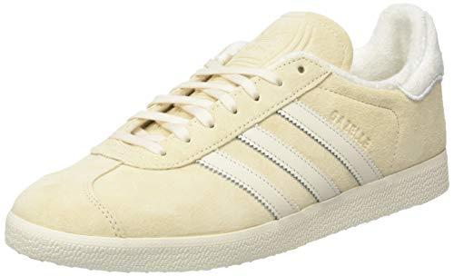 adidas Gazelle, Chaussure de Gymnastique Homme, Écru Tint S18 Chalk White FTWR White, 41 1/3 EU
