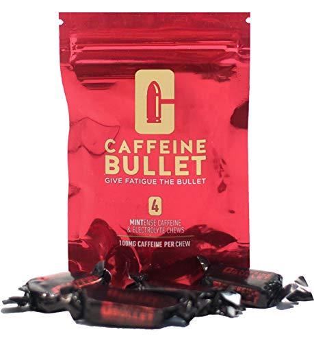 Caffeina Bullet 40 caramelle alla menta e caffeina (100mg) - supera i gel energetici, la gomma da masticare e le capsule energetiche. Per maratona, ciclismo, pre-allenamento e sport di resistenza