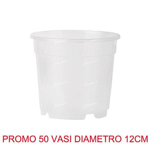 50 Pots pour orchidées Ø12 cm complètement transparents Promo