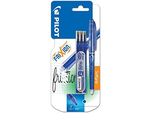 Pilot - Blister FriXion Point 0.5 - Roller effaçable - Bleu + 1 set de 3 recharges - Pointe fine