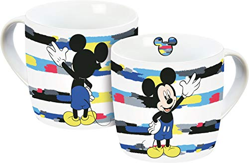 Disney Mickey Mouse 12073 Micky Maus Tasse, Porzellantasse, Kaffeetasse, Porzellan, 300 milliliters, Mehrfarbig