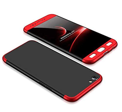 Funda OPPO F3 Plus Negro Rojo,Case F3 Plus Ultra Fina Carcasa 360 ...