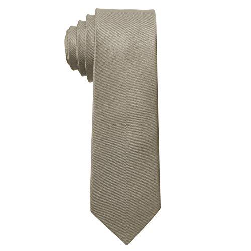 MASADA Herren-Krawatte von Hand gefertigt & sorgfältig verarbeitet 6 cm breit Taupe