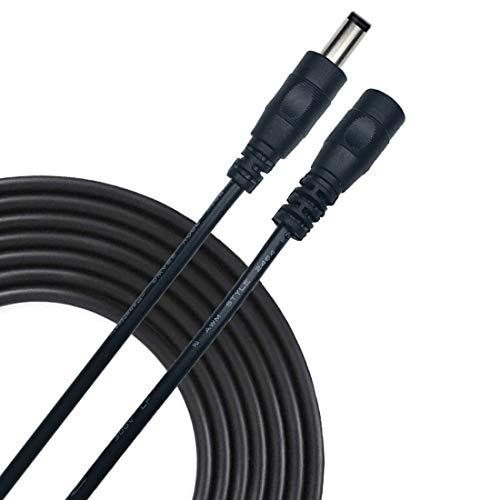 Liwinting 2m/6.56Feet DC Verlängerungskabel 5.5 mm x 2.5 mm DC Anschlusskabel DC/Gleichstrom Verbinderkabel DC Verteiler Männlich zu Weiblich Verbinder für Netzteil, Schwarz