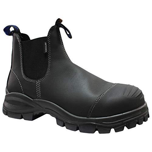 Blundstone Unisex-Erwachsene Work & Safety Boots Chelsea-Stiefel, Schwarzes Platin, 41 EU
