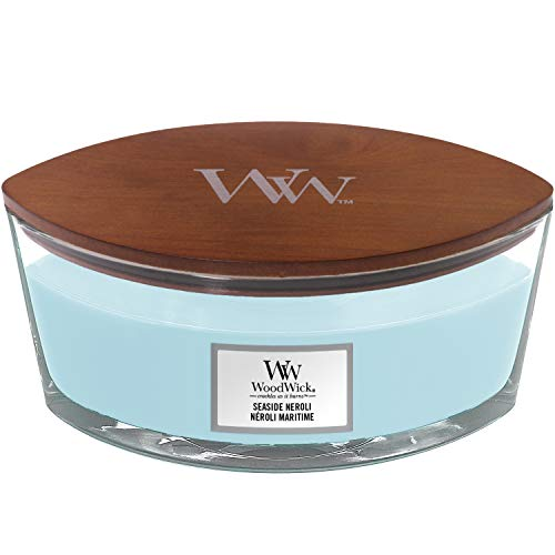 WoodWick Ellipse Scented Candle with Crackling Wick | Seaside Neroli | Up to 50 Hours Burn Time
